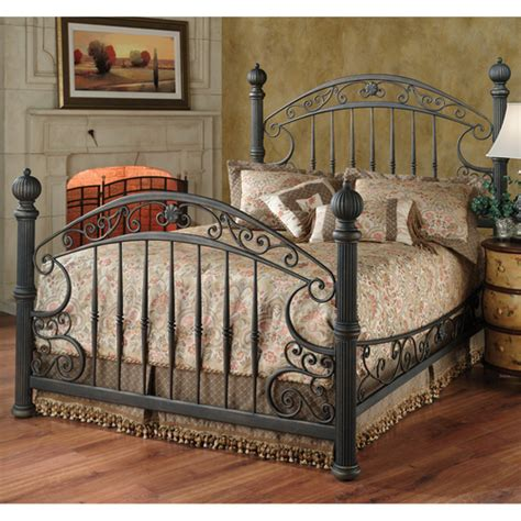 iron bedroom chesapeake iron bed in rustic brown by hillsdale furniture humble abode