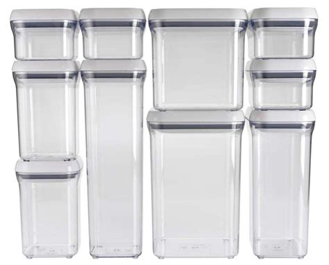 oxo grips kitchen food bathroom storage box pop