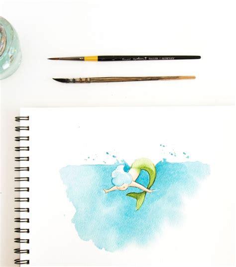 tutorial illustrator watercolor mermaid watercolor illustration sketchinc