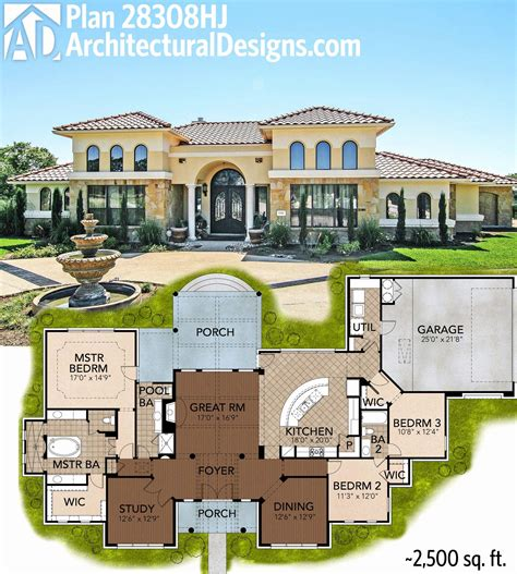 15 luxury mediterranean home plans narrow lot home plan