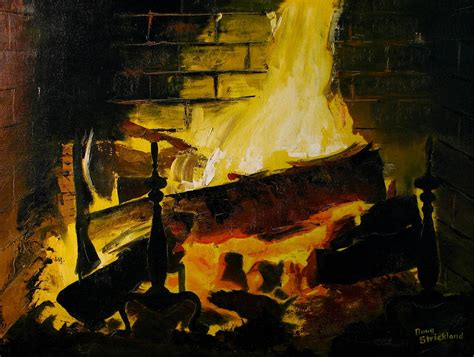 Painting The Fireplace by Cabin Fireplace By Doug Strickland