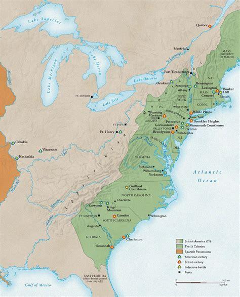 american battles map revolutionary war battles national geographic society