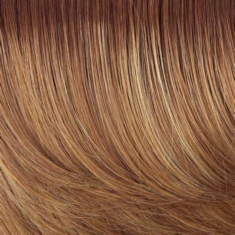 honey ginger hair color hairdo fringe top of head hair topper hsw wigs