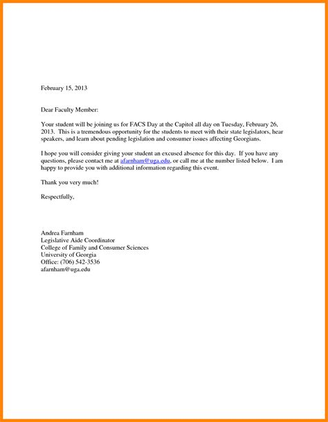 application letter absent college 6 write application for absent in school nanny resumed