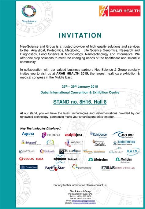 Scientific Conference Invitation Letter sle invitation letter for science exhibition image