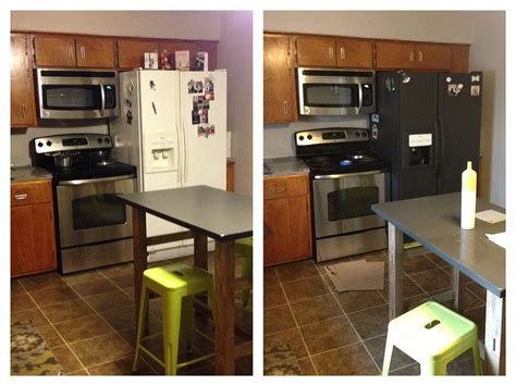 how to paint kitchen appliances hometalk i painted my refrigerator with chalkboard paint