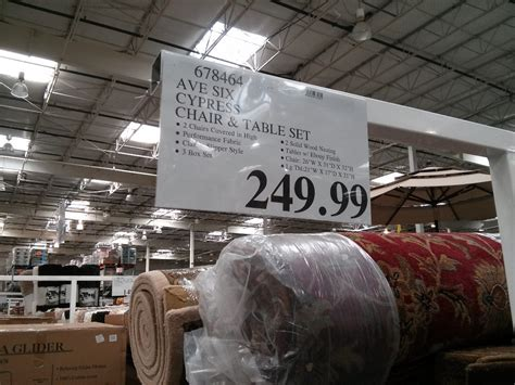 avenue six chairs costco ave six cypress chair and table set