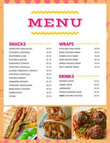 bar food menu templates bar menu templates canva