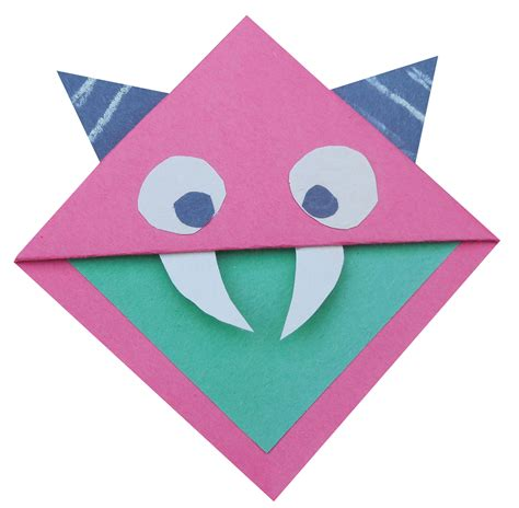 Origami Monsters - origami bookmark bazoof magazine