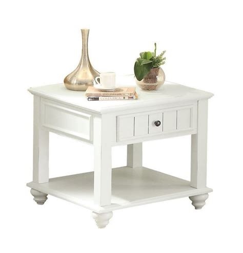white washed wood end tables natesa white washed wood end table w 1 drawer bottom