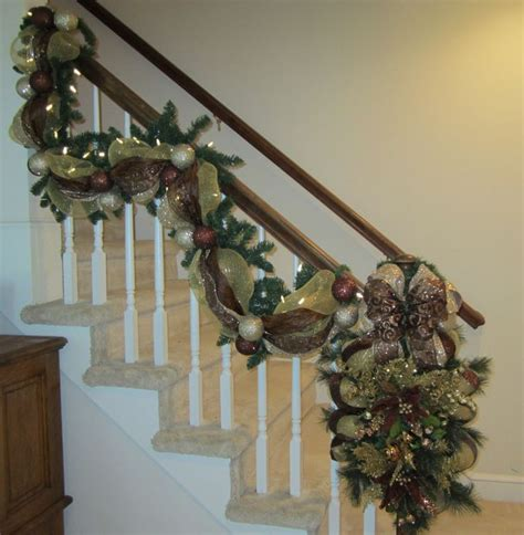 christmas banister garland 30 best christmas stairway garlands images on pinterest
