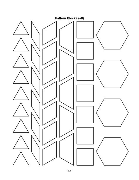 Pattern Block Templates pattern block templates cyberuse