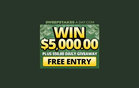 Free Daily Sweepstakes - sweepstakes a day us only