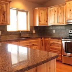 knotty hickory kitchen cabinets knotty hickory cabinets home design ideas pictures remodel and decor