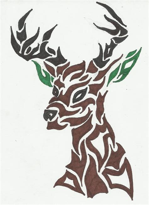 tribal deer head tattoos deer tattoos tribal www pixshark images galleries