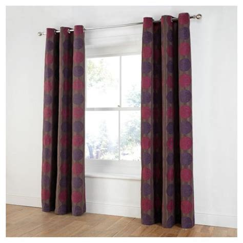 tesco eyelet curtains buy tesco chenille circles lined eyelet curtains