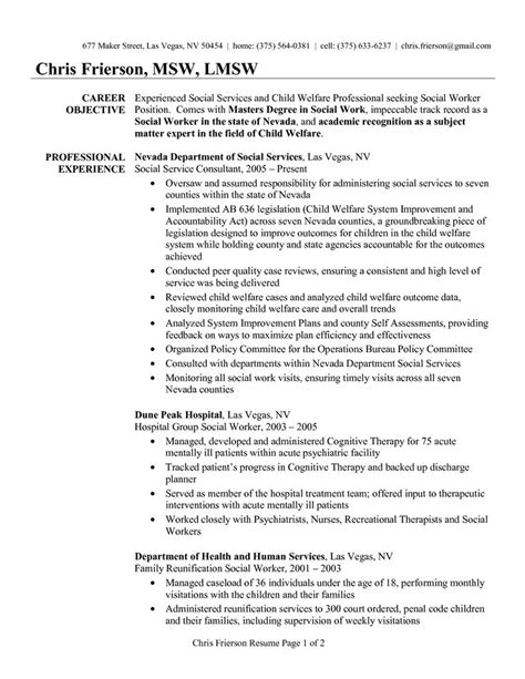 Resume Exles Social Work by Social Work Resume Whitneyport Daily