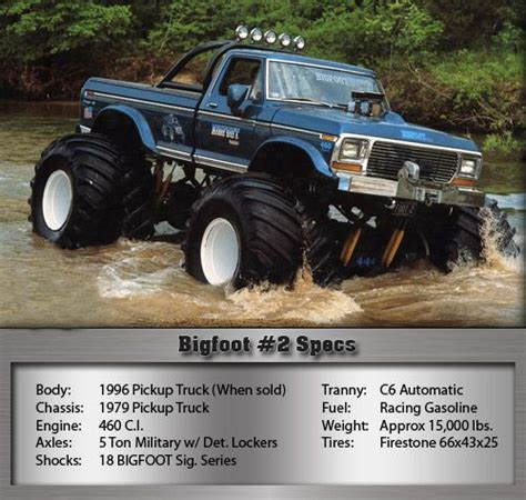 bigfoot 2 truck 115 best images about big truck on
