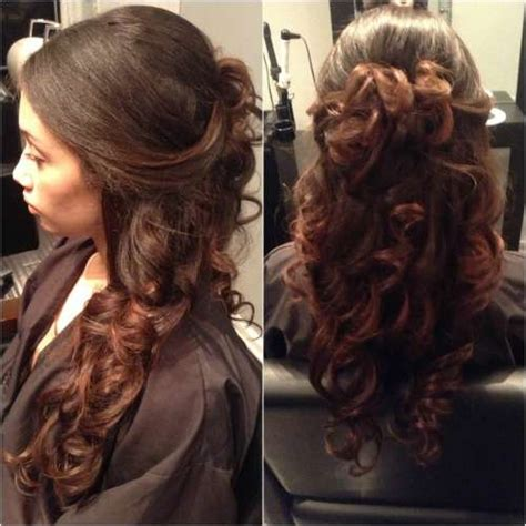 curly hairstyles half up half down for school 62 appealing prom hairstyles for black girls for 2017