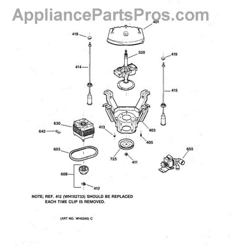 hotpoint washer parts diagram ge wh1x2026 drive belt appliancepartspros