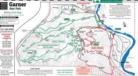 texas hiking trails map need a garner state park map
