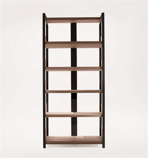 bookcase eracle bookcase shelves solid wood metal frame b