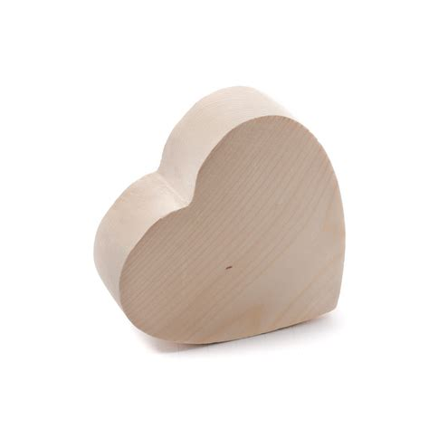 woodwork craft supplies chunky unfinished wood wooden hearts unfinished