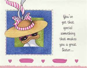 humorous funny sister birthday card bd66 by cardsbylynelle