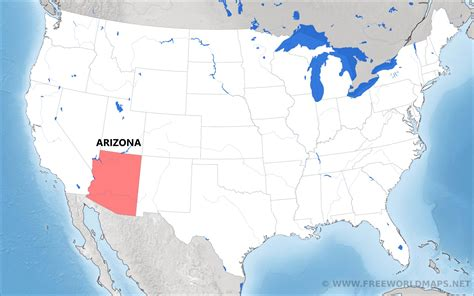 arizona on the united states map where is arizona located on the map