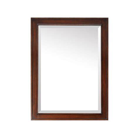 shop avanity provence 24 in x 33 in antique cherry avanity brentwood 32 in l x 24 in w single wall mirror
