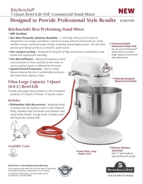 kitchenaid stand mixer which size to get cookware