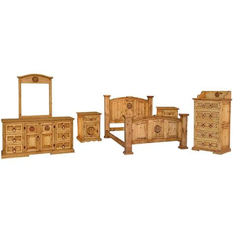 mansion bedroom set rustic pine collection mansion star bedroom set bedset04