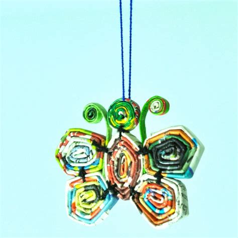new year decorations using recycled materials fair trade recycled paper hanging ornaments