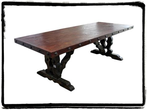 mesquite wood dining table mexican rustic furniture and