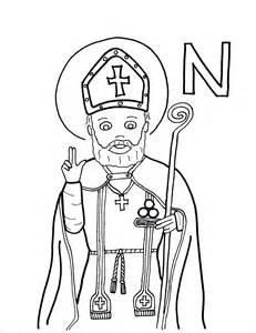 st nicholas coloring page n is for st nicholas saints to color