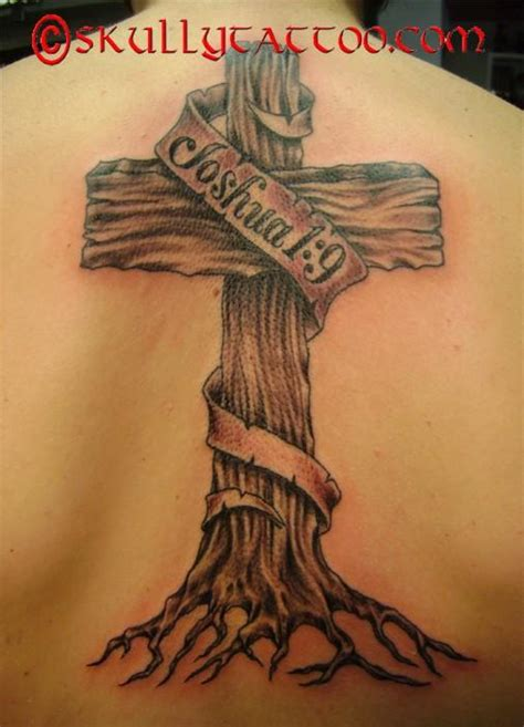 rustic wooden cross tattoos skull tattoo designs stencils