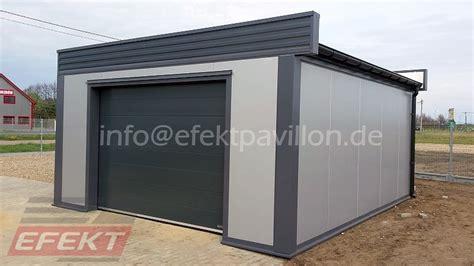 sandwichplatten garage garage efekt pavillon