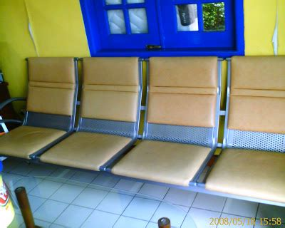 Kursi Keramas Jok Abu Abu barang bekas bagus kursi ruang tunggu exclusive