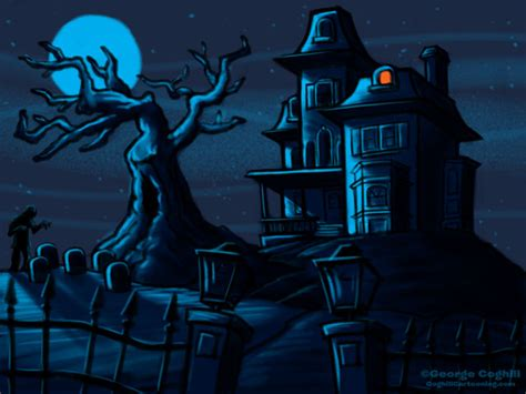 haunted house cartoon haunted house cartoon sketch coghill cartooning cartooning illustration blog