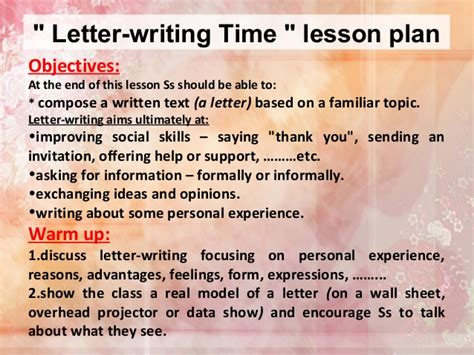 Memo Writing Lesson Formal Letter Lesson Plan Formal Letter Template