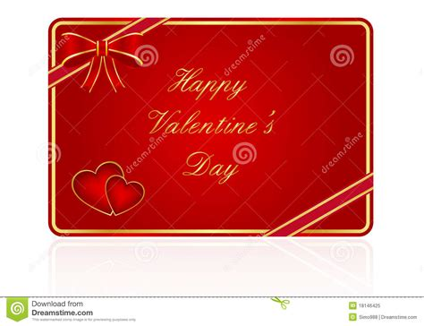 Valentine Gift Card - valentine s day gift card royalty free stock photo image 18146425