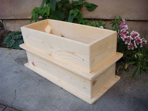 Wood Planter Flower Box Vegetable Garden By Redcedarwoodcraft Planter Box Vegetable Garden
