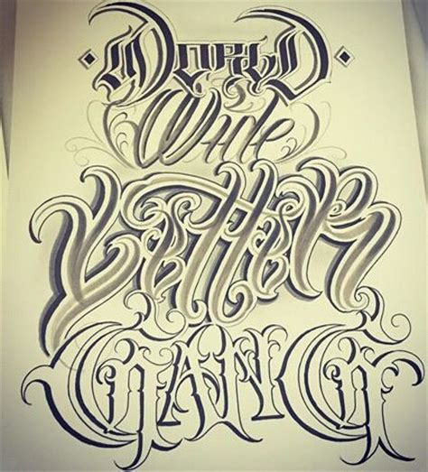tattoo fonts gangster style chicano lettering lettering chicano
