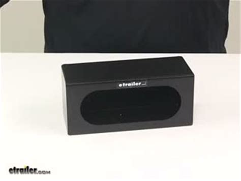 trailer light mounting box custer light mounting box 6 3 4 quot oval black