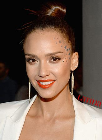 face tattoo girl jessica celebrities rocking each other s looks