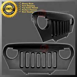 Jeep Tj Grill 97 06 Jeep Tj Wrangler Front Matte Black Overlay