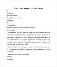 cover letter for marketing position entry level entry level cover letter templates 9 free sles
