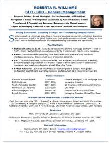 sle resume for ceo sle resume of chief executive officer