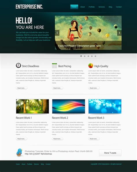 tutorial photoshop template web design create website layout in photoshop 50 step by step tutorials