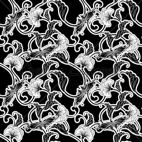 japanese pattern black and white ornate japanese seamless tile pattern 183 gl stock images